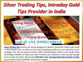 Silver Trading Tips, Intraday Gold Tips Provider in India