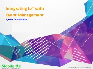 Integrating IoT with Event Management - Mobiloitte