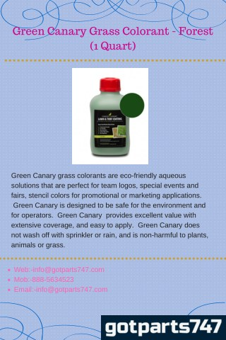 Green Canary Grass Colorant - Forest (1 Quart)