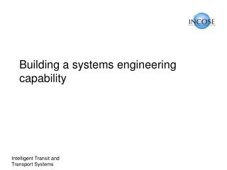 Building a systems engineering capability