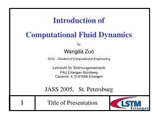 Introduction of  Computational Fluid Dynamics