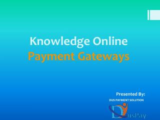 Payment Gateway Providers in world