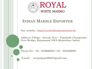 Indian marble exporter