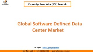 Global Software Defined Data Center Market Growth