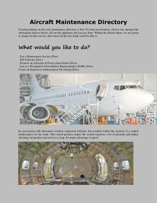Aircraft Maintenance Directory