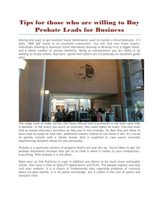 Buy probate leads