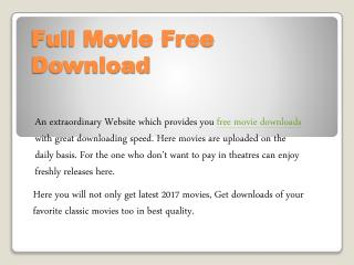 Latest free download movies in hd