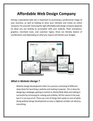 Affordable web design company