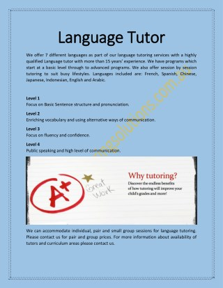 Language Tutor