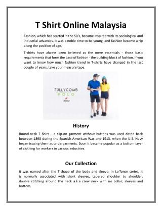 T Shirt online malaysia