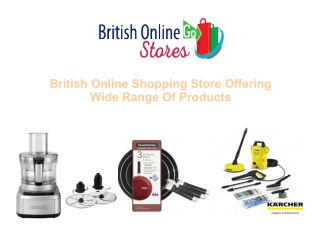 British Online Shopping Store Offering Wide Range Of Products