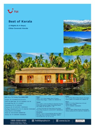 Kerala, 3 Nights and 4 Days Package starts @ ? 9,990