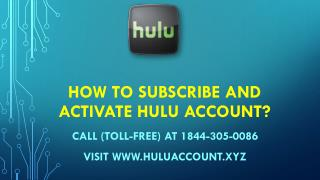 Hulu Manage Device Call (Toll-Free) 1844-305-0086