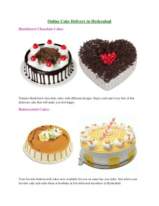 Bestbake.in - Online Cake Delivery in Hyderabad