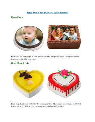Same Day Cake Delivery in Hyderabad