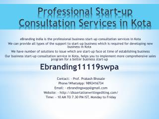 Professional Start-up Consultation Services in Kota