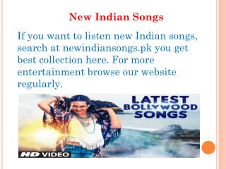 New Indian Songs
