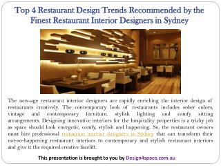 Top 4 Restaurant Design Trends Recommended by the Finest Restaurant Interior Designers in Sydney