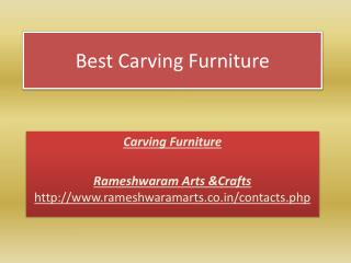 Best Carving Furniture
