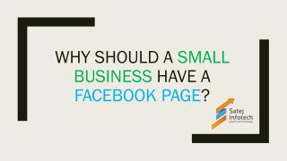 Why Should a Small Business Have a Facebook Page?