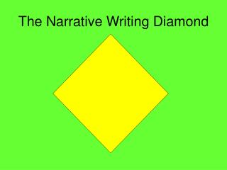 The Narrative Writing Diamond