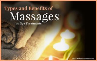 What Are The Common Types Of Massages Used In Spa Treatments?