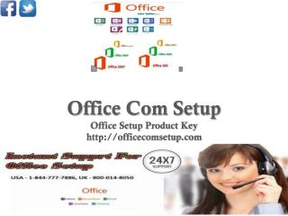 Office Setup Enter Product Key | Call Toll Free 1-844-777-7886