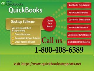 QuickBooks Technical Support 1-800-408-6389