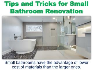 ppt tips and tricks for small bathroom renovation With tips and tricks in small bathroom renovation