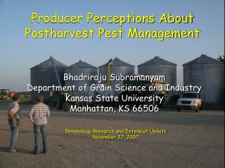 Producer Perceptions About Postharvest Pest Management