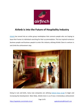 Airbnb is into the Future of Hospitality Industry