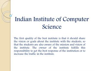 IICS Provides the multiple computers courses in Laxmi Nagar
