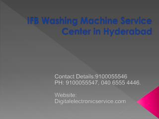 IFB Washing Machine Service Center in Hyderabad