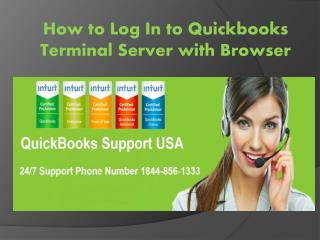 How to Log In to Quickbooks Terminal Server with Browser