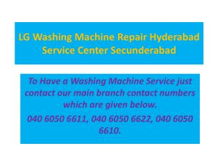 LG Washing Machine Repair Hyderabad Service Center Secunderabad