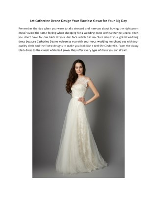 Beautiful Lace Wedding Dresses by Catherine Deane