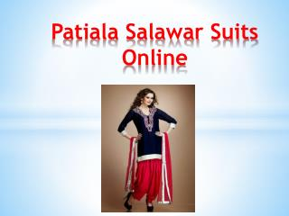 Patiala Salawar Suits Online