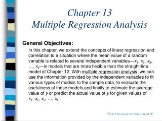 Chapter 13   Multiple Regression Analysis