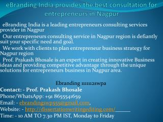 best consultation for entrepreneurs in Nagpur