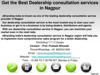 Get the Best Dealership consultation services in Nagpur