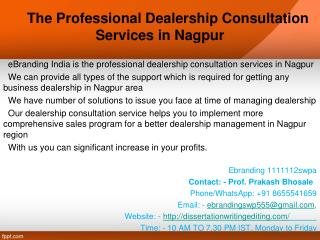 The Professional Dealership Consultation Services in Nagpur