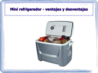 Mini refrigerador- ventajas y desventajas