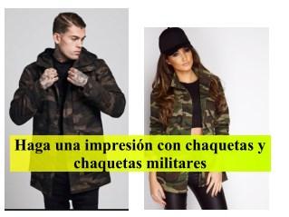 Haga una impresión con chaquetas y chaquetas militares