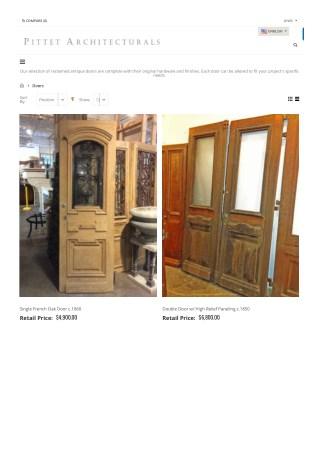 Antique Doors | Vintage Doors | Antique Entry and Interior Doors | Pittet Architecturals