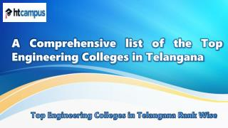 A Comprehensive list of the Top Engineering Colleges in Telangana