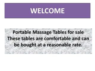 Massage Tables for Sale Cheap