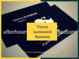 Great Discounts on Velvet Laminated Business Cards with Foil Blocking