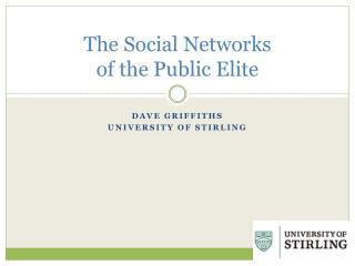 The Social Networks  of the Public Elite