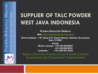 Supplier of Talc Powder West Java Indonesia