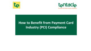 How to Benefit from Payment Card Industry (PCI) Compliance